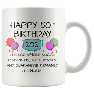 50th Birthday Mug 2021