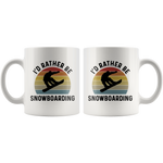 Load image into Gallery viewer, Snowboarding Mug, I'd Rather Be Snowboarding