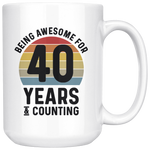 Load image into Gallery viewer, Retro 40th Birthday Mug