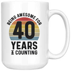 Retro 40th Birthday Mug