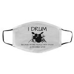 Load image into Gallery viewer, Funny Drummer Face Mask