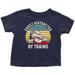 Load image into Gallery viewer, Toddler Train Shirt, Easily Distracted By Trains