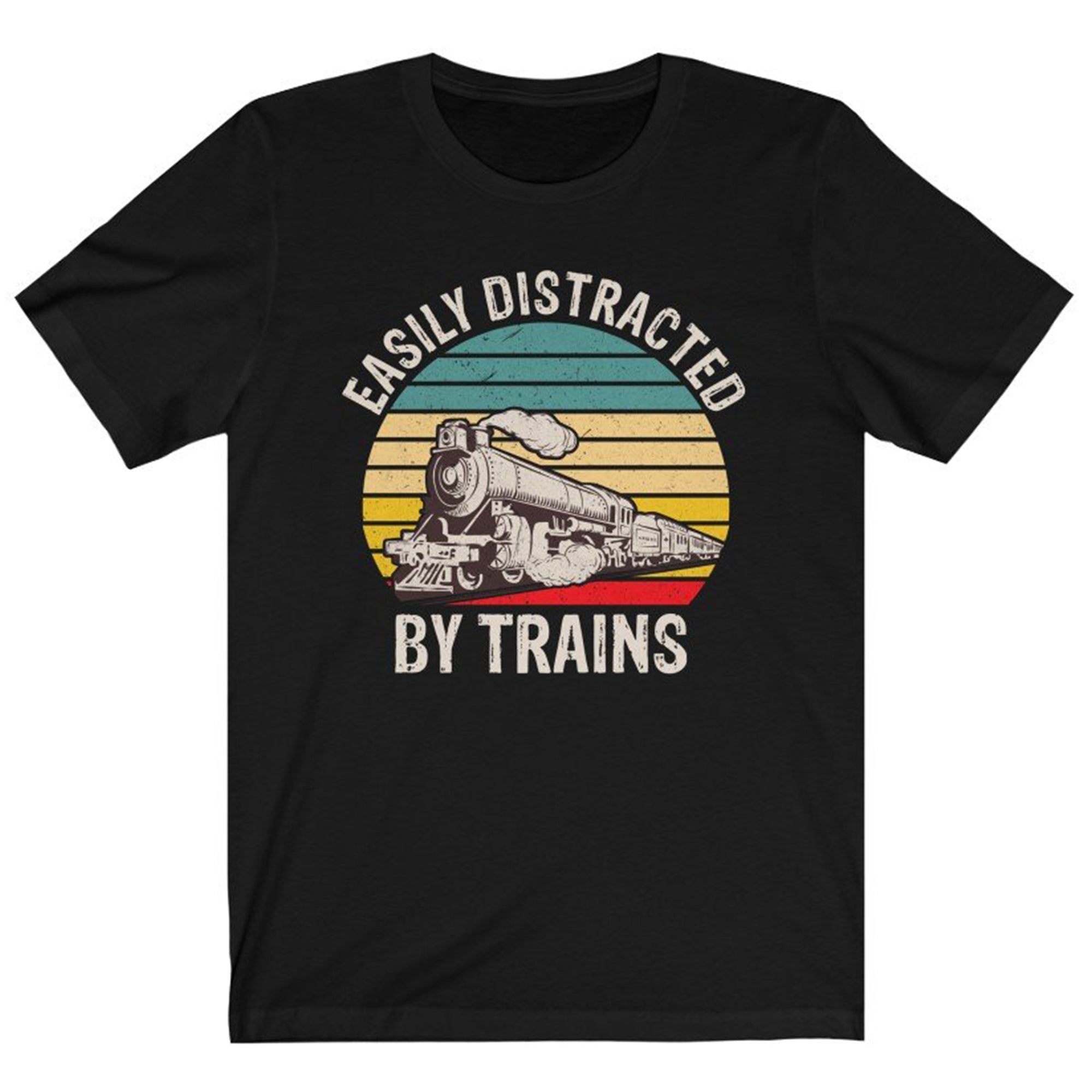 Train Shirt, Easily Distracted By Trains