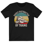 Load image into Gallery viewer, Train Shirt, Easily Distracted By Trains