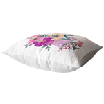 Load image into Gallery viewer, Floral Hummingbird Pillow