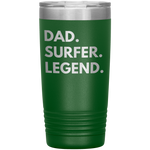 Load image into Gallery viewer, Dad Surfer Legend 20 oz Tumbler