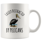 Load image into Gallery viewer, Pelican Mug, Easily Distracted By Pelicans
