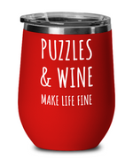 Load image into Gallery viewer, Puzzle Lover Wine Tumbler