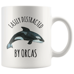 Load image into Gallery viewer, Orca Mug, Easily Distracted By Orcas
