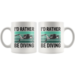 Load image into Gallery viewer, Scuba Diving Mug, I'd Rather Be Diving
