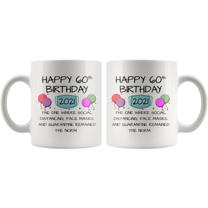 60th Birthday Mug 2021