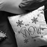 Load image into Gallery viewer, Snowflake Throw Pillow, It's Snow Season