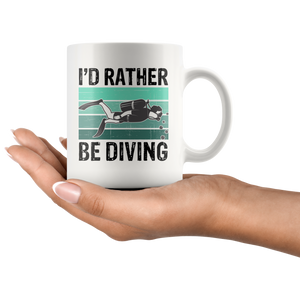 Scuba Diving Mug, I'd Rather Be Diving