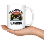 Load image into Gallery viewer, Gaming Mug, I'd Rather Be Gaming