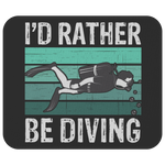 Load image into Gallery viewer, Scuba Diver Mousepad