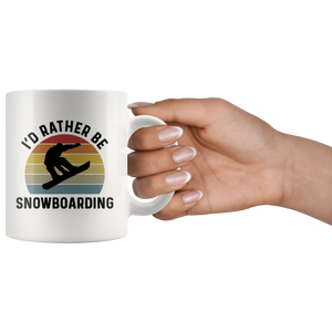 Snowboarding Mug, I'd Rather Be Snowboarding
