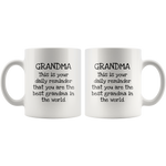 Load image into Gallery viewer, Daily Reminder You are the Best Grandma Mug