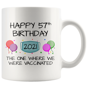 57th Birthday Mug 2021