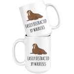 Load image into Gallery viewer, Funny Walrus Mug, Easily Distracted by Walruses