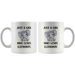 Load image into Gallery viewer, Elephant Mug, Just A Girl Who Loves Elephants