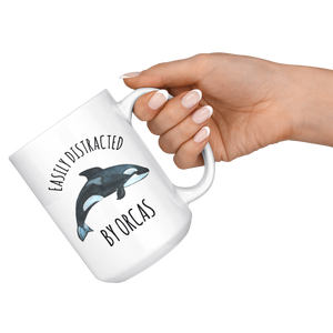 Orca Mug, Easily Distracted By Orcas