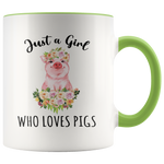 Load image into Gallery viewer, Pig Mug, Just a Girl Who Loves Pigs