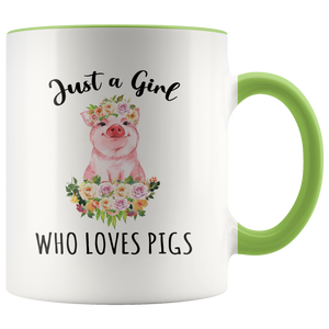 Pig Mug, Just a Girl Who Loves Pigs