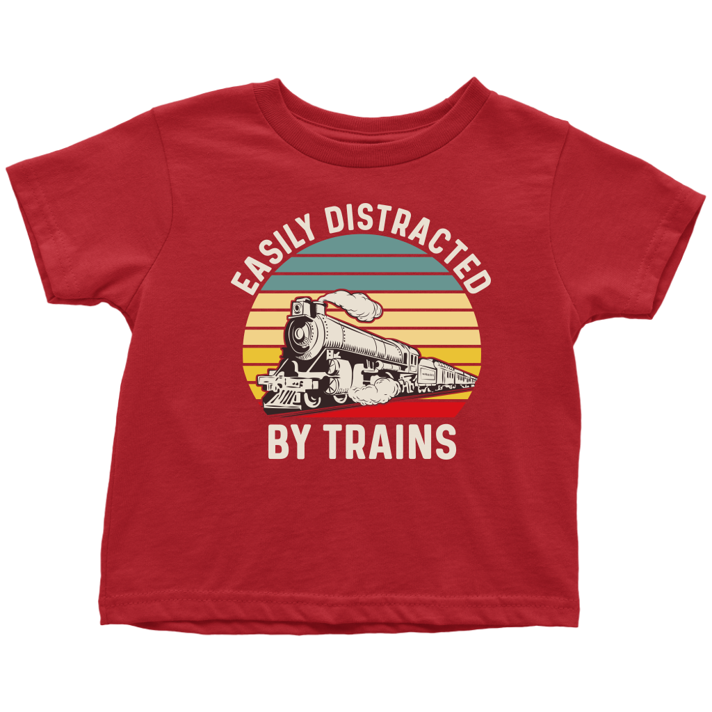 Toddler Train Shirt, Easily Distracted By Trains