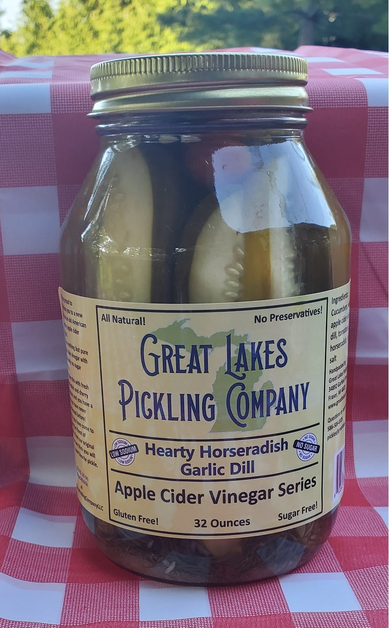 Hearty Horseradish Garlic Dill Pickle Spears (32 ounce jar)