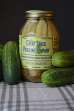 Load image into Gallery viewer, Hearty Horseradish Garlic Dill Pickle Spears (32 ounce jar)