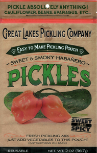 Sweet & Smoky Habanero Easy-To-Make Pickling Pouch