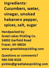 Load image into Gallery viewer, Smoked Habanero Pickle Spears (32 ounce jar)