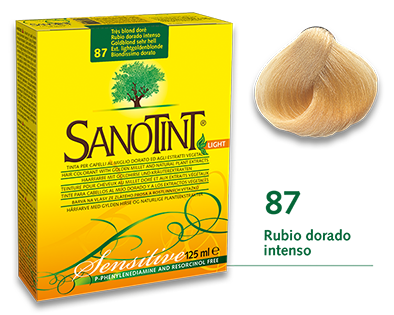 Sanotint Sensitive - 87 Rubio dorado intenso
