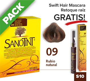 PACK Sanotint Classic - 09 Rubio natural + Swift Hair S10 gratis