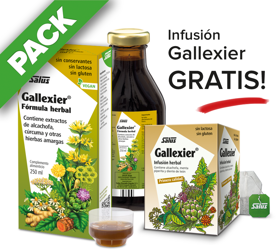 PACK Gallexier líquido - 250 ml + infusión gratis
