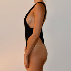 Sorrento One Piece / Ribbed Black