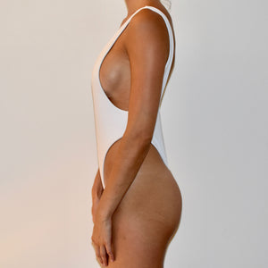 Sorrento One Piece / Ribbed White