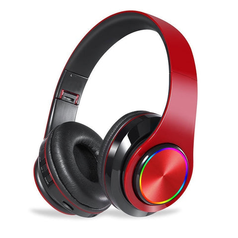 Music LED Light Hifi Stereo Headset With Mic Built In TF Card Slot