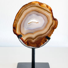 Load image into Gallery viewer, agate slice on stand 02