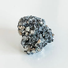 Load image into Gallery viewer, pyrite + galena with quartz flowers 10