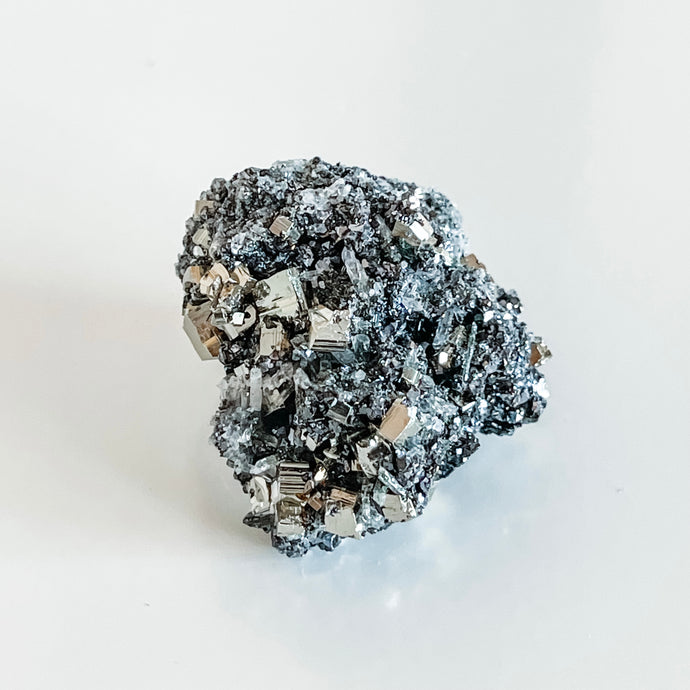 pyrite + galena with quartz flowers 10