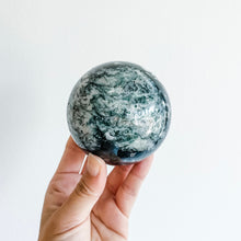 Load image into Gallery viewer, moss agate sphere 01