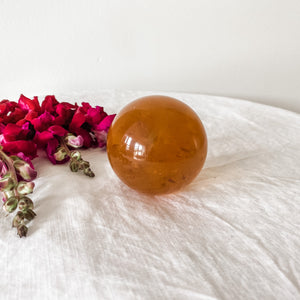 honey calcite sphere 02