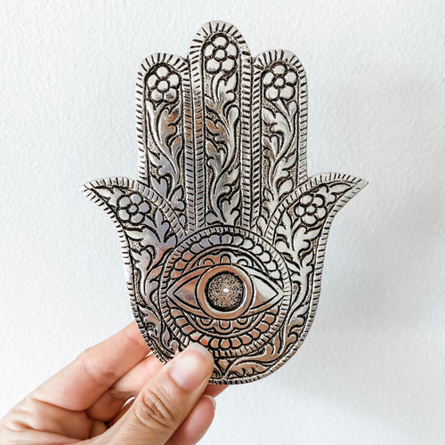 incense holder- hamsa hand