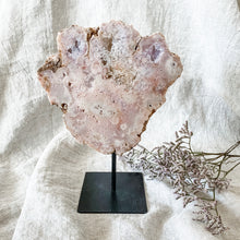 Load image into Gallery viewer, pink amethyst slice on stand 03