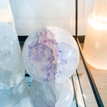 Load image into Gallery viewer, amethyst geode sphere - large 01