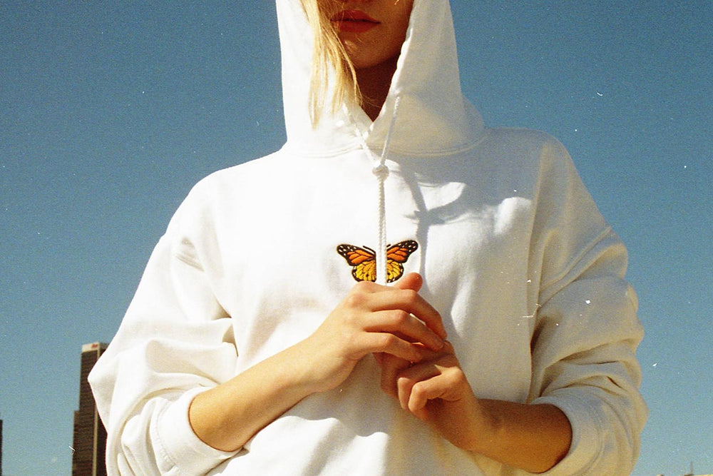 Home page image in Christy Butterfly Hoodie