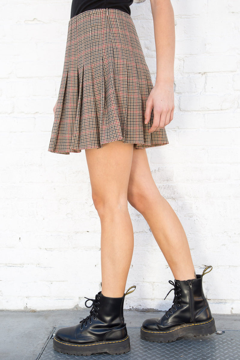 Tan Red Black Plaid / S