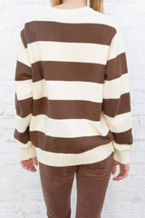 Brown Cream Stripes / Oversized Fit