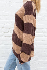 Thick Brown Stripes / Oversized Fit